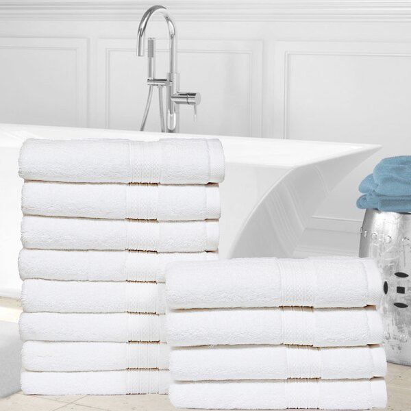 Kring Zero Twist 100% Cotton Hand Towel (Set of 12) by Williston Forge